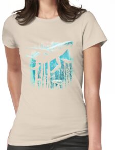 Whale Forest Womens Fitted T-Shirt