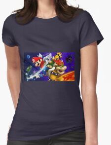 Mario vs Browser Womens Fitted T-Shirt