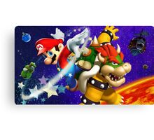 Mario vs Browser Canvas Print
