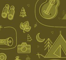 Camping Seamless Pattern. Sticker