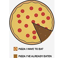 Pizza Chart! Photographic Print