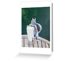 'Squirrel Thief' by Jensen Hoswell (2016) Greeting Card