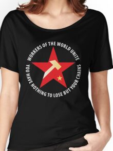 Workers of the World Socialist Red Star Women's Relaxed Fit T-Shirt
