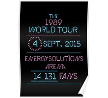 4th September - Energysolutions Arena Poster