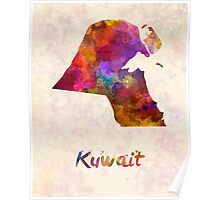 Kuwait  in watercolor Poster