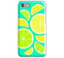 Summer fresh Fruit - Lemons & Limes iPhone Case/Skin