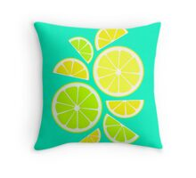 Summer fresh Fruit - Lemons & Limes Throw Pillow