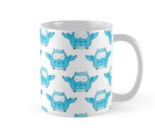 Cute Blue Watercolor Owl Pattern Mug