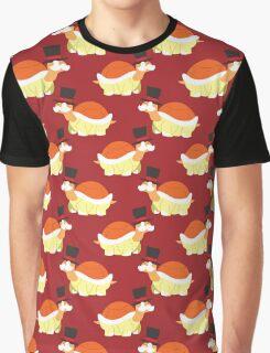 Mustache Turtle Pattern Graphic T-Shirt