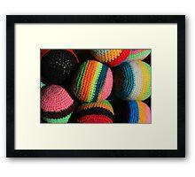 Colorful Knit Balls Framed Print