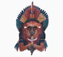 Monkey of red fire Kids Tee