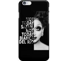 Bianca Del Rio Text Portrait iPhone Case/Skin