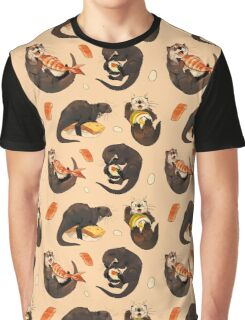 Tiny otters and their sushi Graphic T-Shirt
