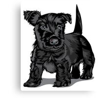 Cute black dog  Canvas Print