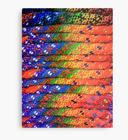 Colorful Knit Sweaters Metal Print