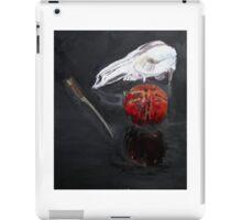 Pomegranate kangaroo scull knife reflected in glass iPad Case/Skin