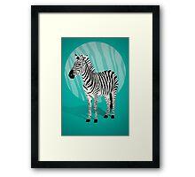Zebra in Blue - Zebra in Blautönen Framed Print