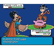 Plastic Type  Photographic Print