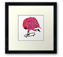 Skateboarding Brain Framed Print