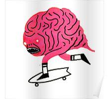 Skateboarding Brain Poster