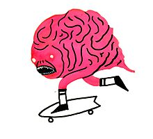 Skateboarding Brain Photographic Print