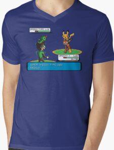 Super Speedy Type Mens V-Neck T-Shirt