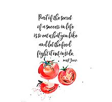 Mark Twain - about food Photographic Print