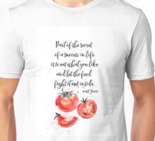 Mark Twain - about food Unisex T-Shirt