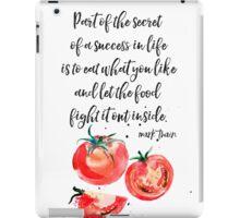 Mark Twain - about food iPad Case/Skin