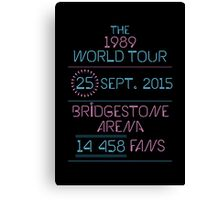 25th September - Bridgestone Arena Canvas Print