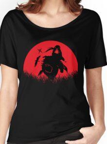Itachi Akatsuki Red Moon Women's Relaxed Fit T-Shirt