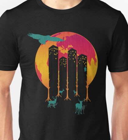 Save The Planet - City Night glow Unisex T-Shirt