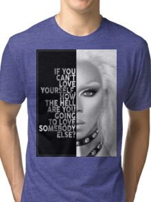Ru Paul Text Portrait Tri-blend T-Shirt