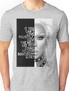 Ru Paul Text Portrait Unisex T-Shirt