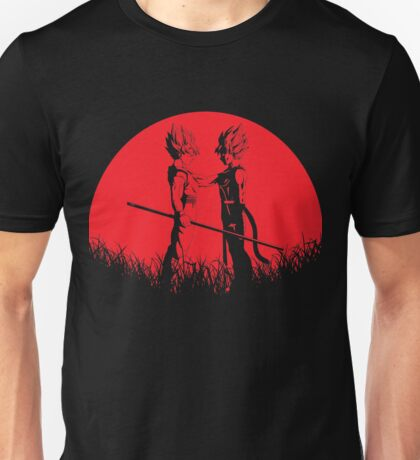 Father and Son - Bardock Goku Red Moon Unisex T-Shirt