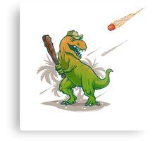 Dino baseball player Metal Print