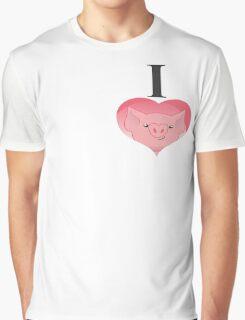 I love pig Graphic T-Shirt