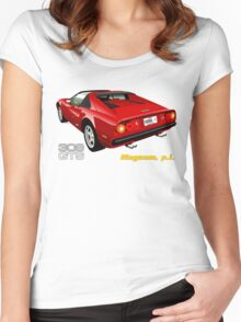 Ferrari 308 GTS from Magnum, p.i. Women's Fitted Scoop T-Shirt