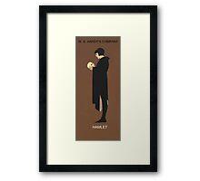 Recreation of Hamlet, vintage poster  Framed Print