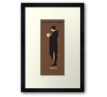 Recreation of Hamlet, vintage poster  Framed Print