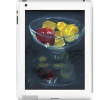 Quinces and pomegranate reflected in glass bowl iPad Case/Skin
