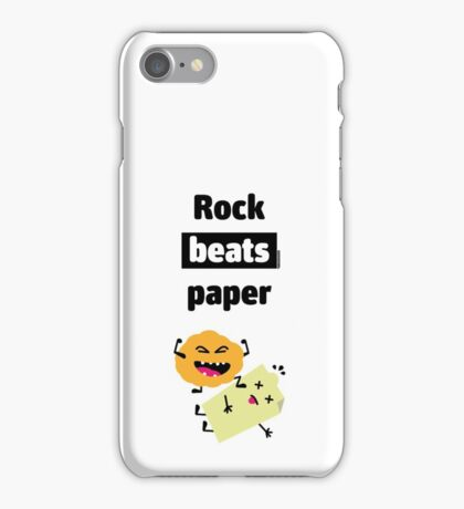 Rock Beats Paper iPhone Case/Skin