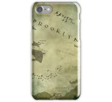 Brooklyn Map-Green iPhone Case/Skin