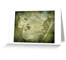 Brooklyn Map-Green Greeting Card