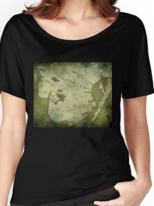 Brooklyn Map-Green Women's Relaxed Fit T-Shirt