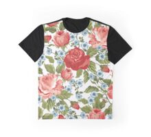 Roses, Flowers, Petals, Leaves - Red Green Blue Graphic T-Shirt