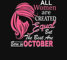 Women Born In October Women's Fitted V-Neck T-Shirt
