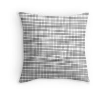 Black cell unique abstract pattern of lines Throw Pillow