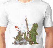 godzilla to date in Paris Unisex T-Shirt