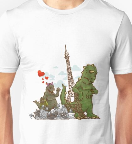 godzilla to date in Paris Unisex T-Shirt